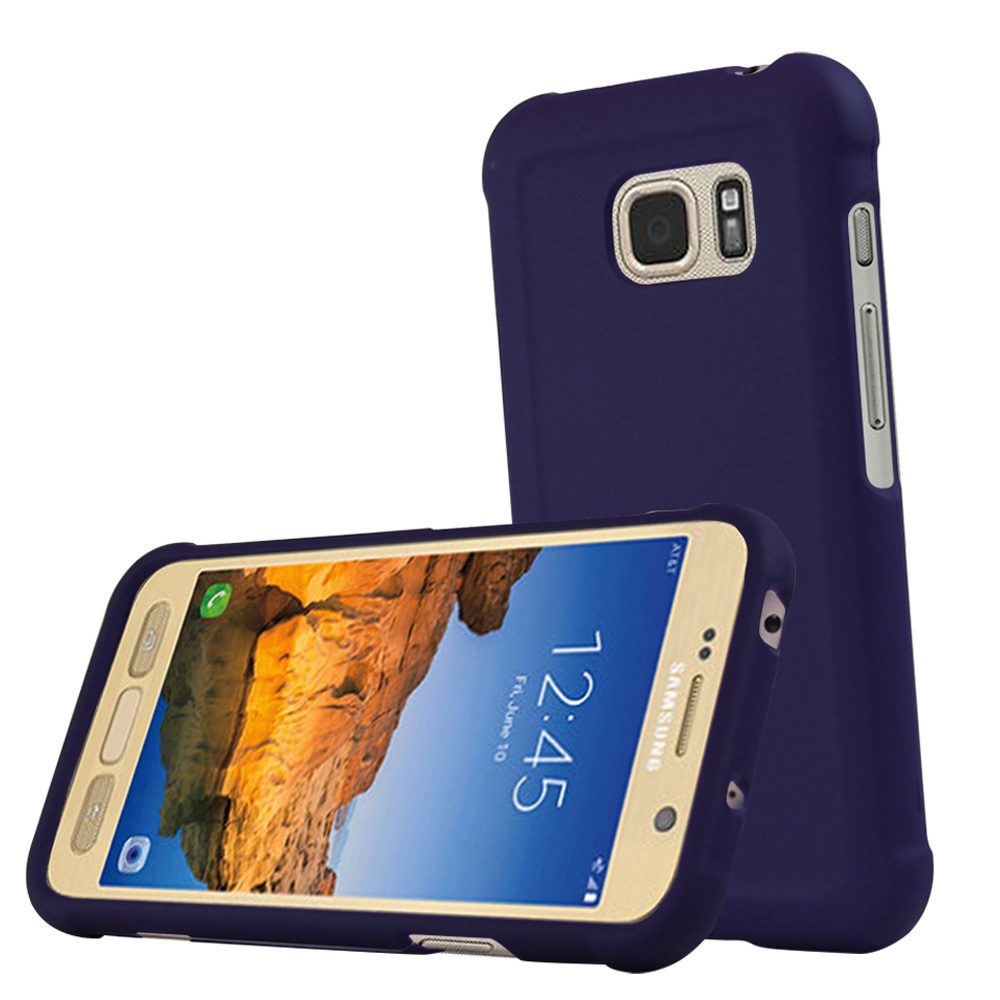 Samsung Galaxy S7 Active Case, REDshield [Purple] Slim & Protective Rubberized Matte Finish Snap-on Hard Polycarbonate Plastic Case Cover with Travel Wallet Phone Stand