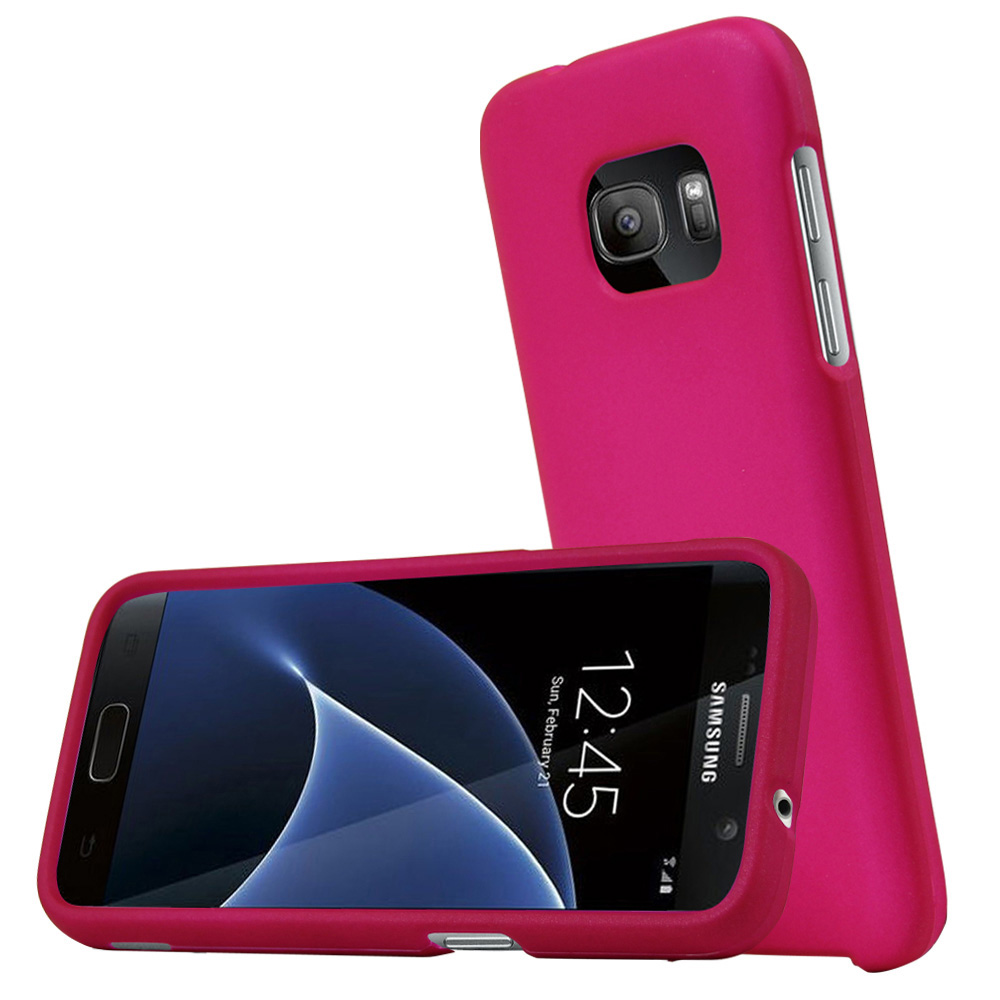 Samsung Galaxy S7 Case, REDshield  [Hot Pink] Slim & Protective Rubberized Matte Finish Snap-on Hard Polycarbonate Plastic Case Cover with Travel Wallet Phone Stand
