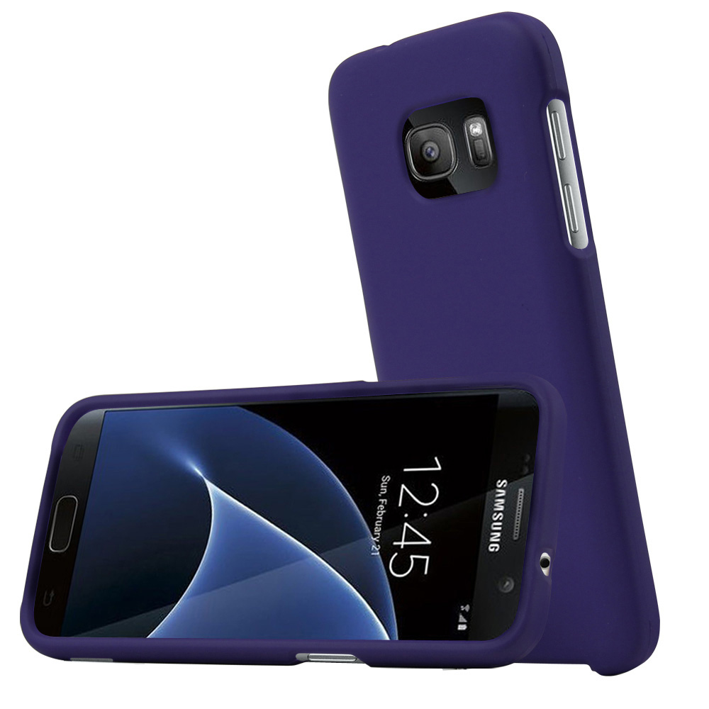 Samsung Galaxy S7 Case, REDshield  [Purple] Slim & Protective Rubberized Matte Finish Snap-on Hard Polycarbonate Plastic Case Cover with Travel Wallet Phone Stand
