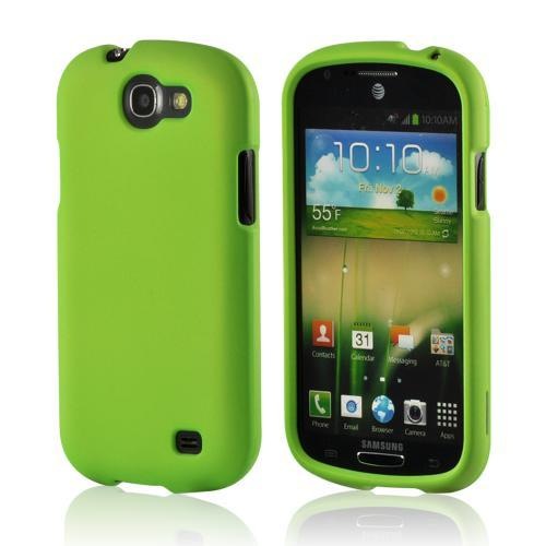 Neon Green Rubberized Hard Case for Samsung Galaxy Express