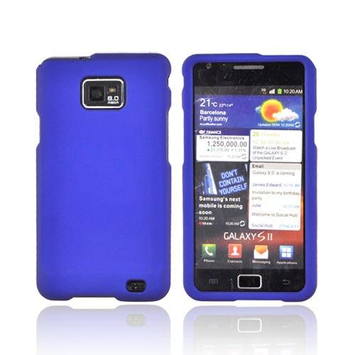 AT&T Samsung Galaxy S2 Rubberized Hard Case - Blue