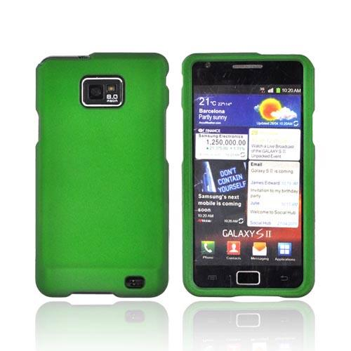 AT&T Samsung Galaxy S2 Rubberized Hard Case - Green