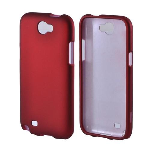 Samsung Galaxy Note 2 Rubberized Hard Case - Red