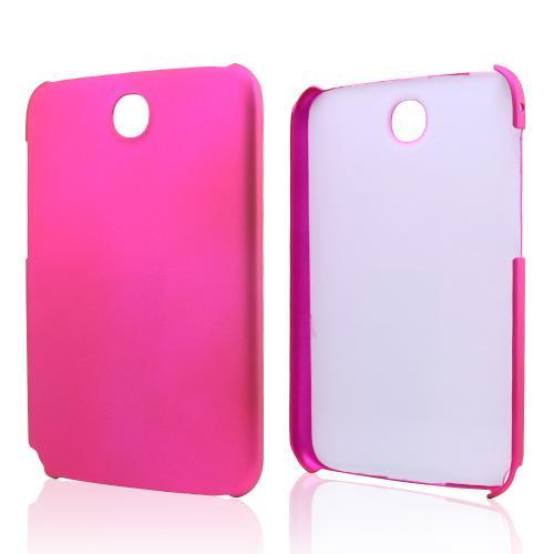 Hot Pink Rubberized Hard Case for Samsung Galaxy Note 8.0