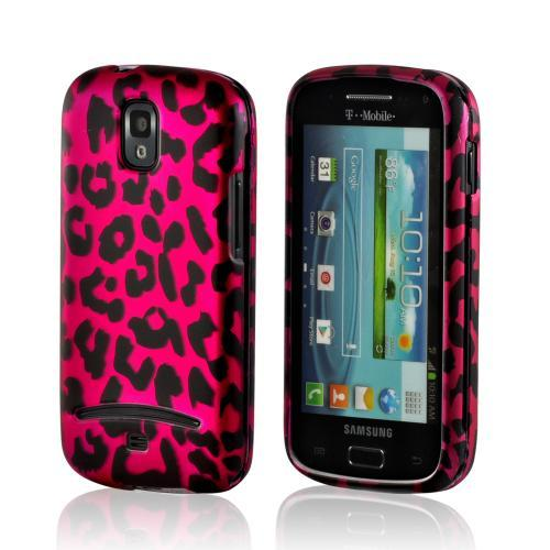 Hot Pink/ Black Leopard Rubberized Hard Case for Samsung Galaxy S Relay 4G