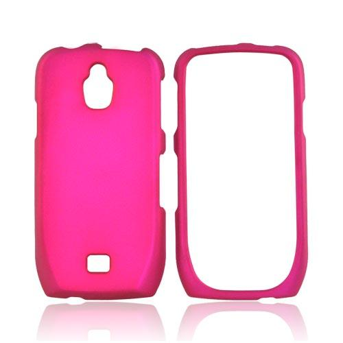 Samsung Exhibit T759 Rubberized Hard Case - Rose Pink