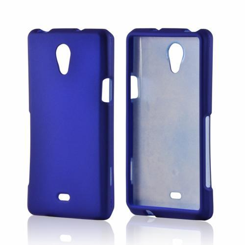 Blue Rubberized Hard Case for Sony Xperia TL