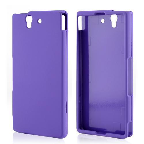 Purple Rubberized Hard Case for Sony Xperia Z