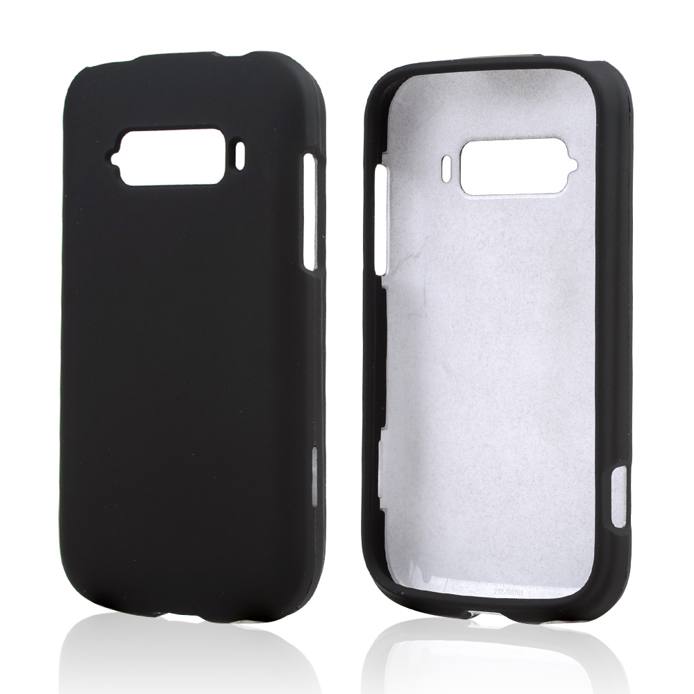 Black Rubberized Hard Case for ZTE Imperial