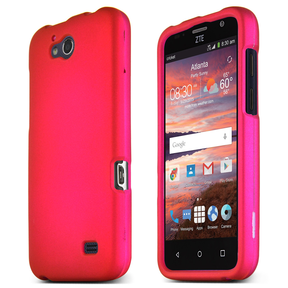 ZTE Overture 2 Case, Rose Pink Slim & Protective Rubberized Matte Hard Plastic Case