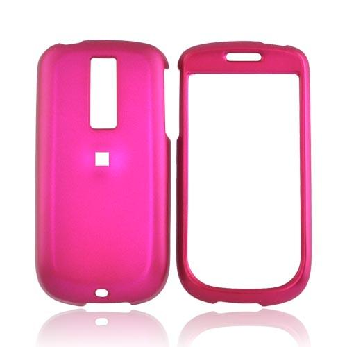T-Mobile MyTouch 3G w/ 3.5mm Audio Jack Rubberized Hard Case - Rose Pink