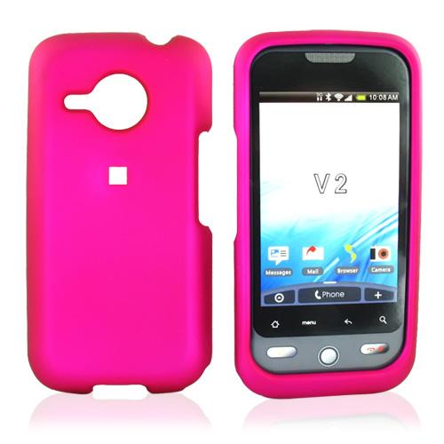 HTC Droid Eris Rubberized Hard Case - Rose Pink