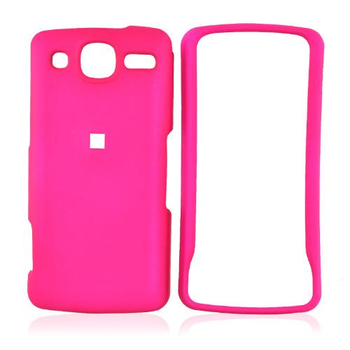 LG Expo GW820 Rubberized Hard Case - Hot Pink