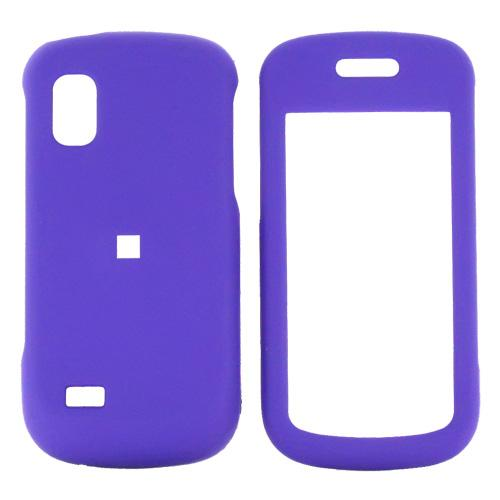 Samsung Solstice A887 Rubberized Hard Case - Purple