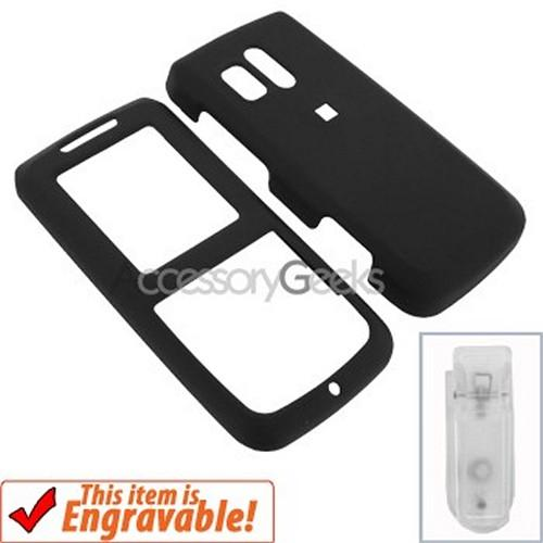 Samsung Messager R450 Rubberized Hard Case - Black