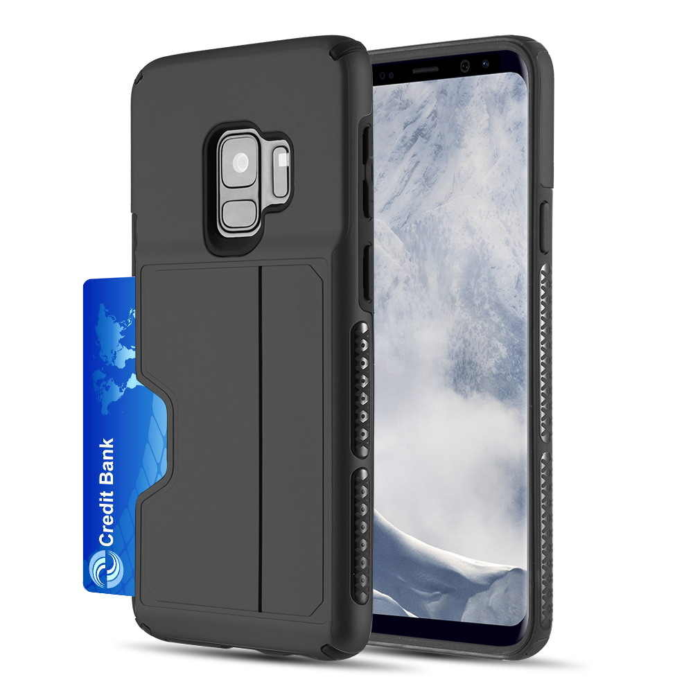 [Samsung Galaxy S9] Redshield Card TO GO II Hybrid Case PC + TPU with Card Slot [Black]
