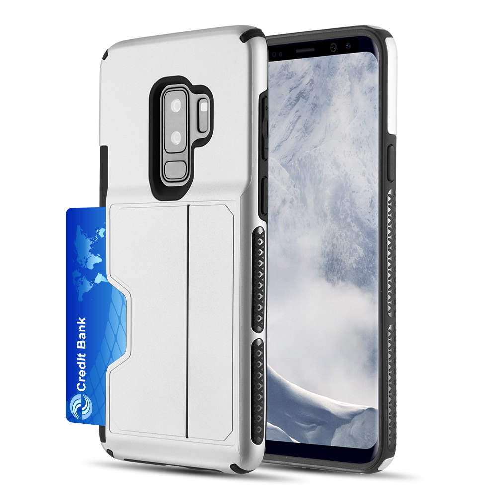 [Samsung Galaxy S9 PLUS] Redshield Card TO GO II Hybrid Case PC + TPU with Card Slot [Silver]