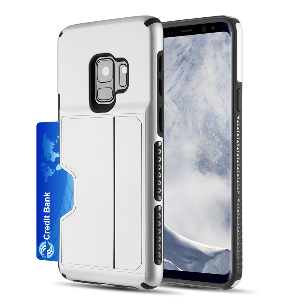 [Samsung Galaxy S9] Redshield Card TO GO II Hybrid Case PC + TPU with Card Slot [Silver]