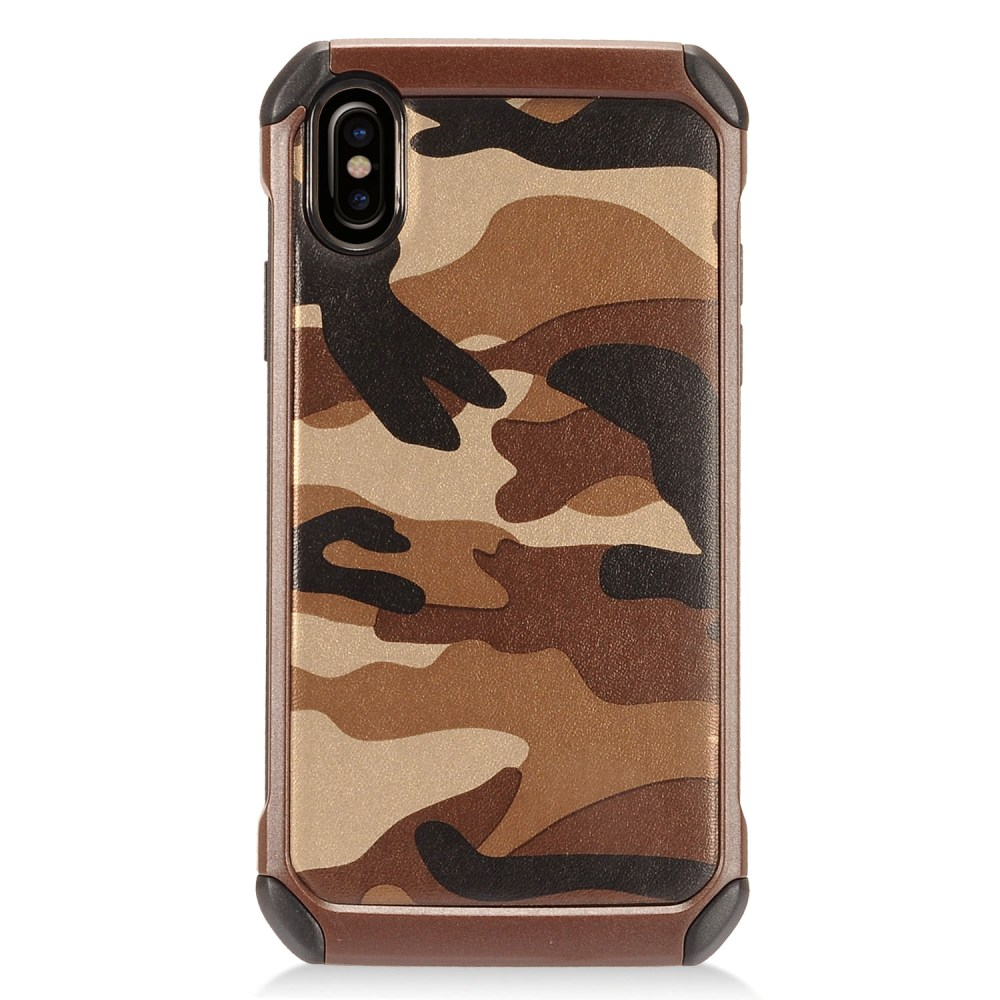 [REDshield] Apple iPhone X Shockproof Case, [Brown Camouflage] Rubberized Slim Dual layer Hybrid Hard Case on TPU Case