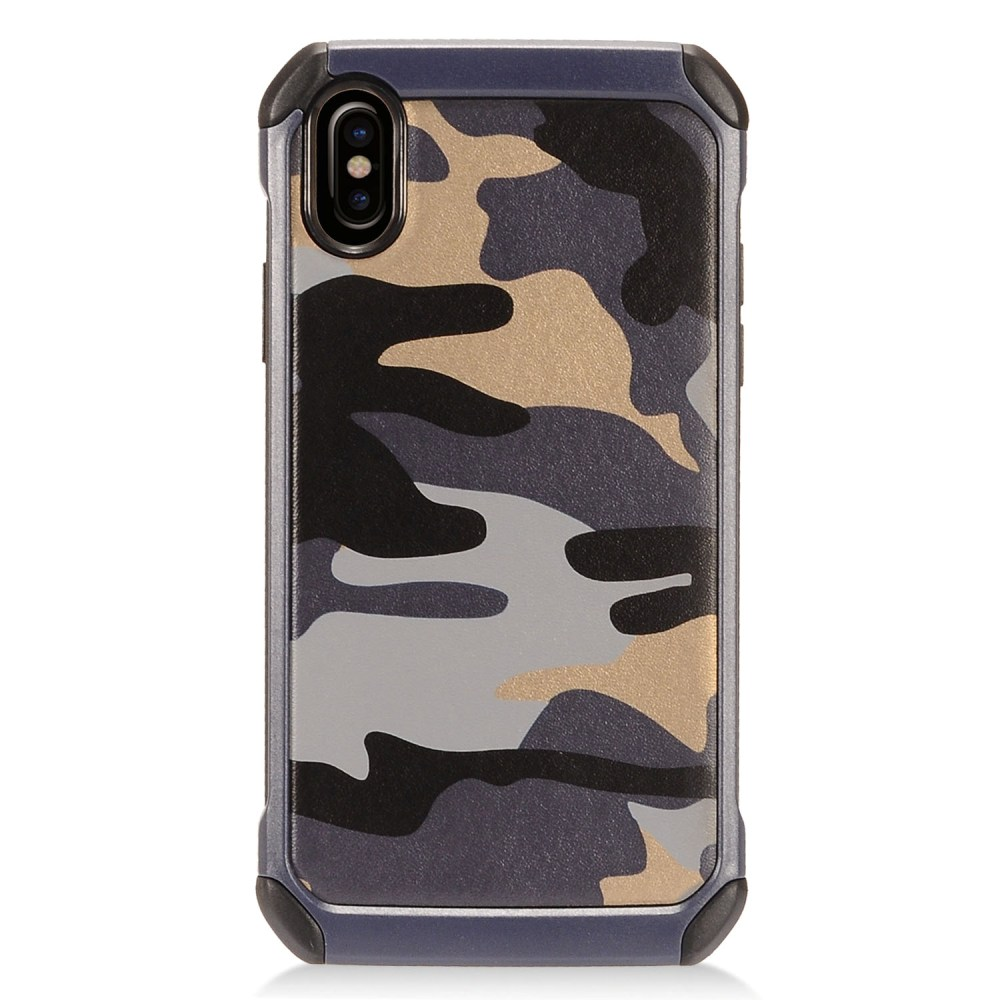 [REDshield] Apple iPhone X Shockproof Case, [Gray Camouflage] Rubberized Slim Dual layer Hybrid Hard Case on TPU Case