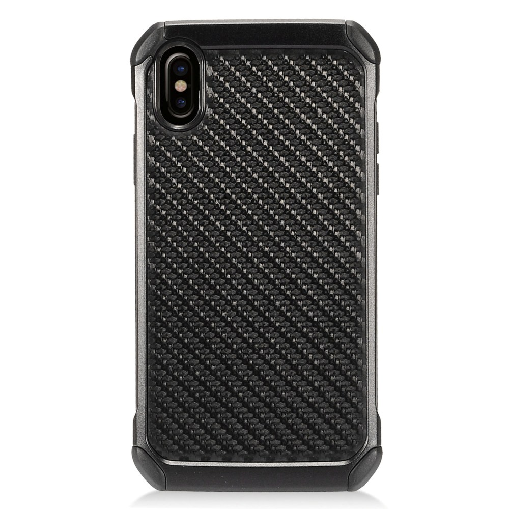 Made for [Apple iPhone X / XS 2018] Shockproof Case, [Carbon Fiber Design] Rubberized Slim Dual layer Hybrid Hard Case on TPU Case by Redshield