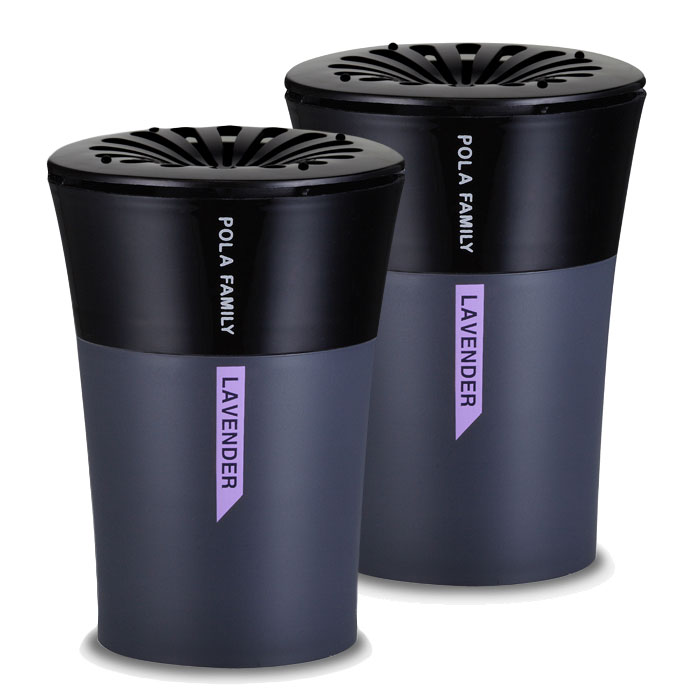 Premium Car Air Freshener, [Lavender] Bullsone Pola Family Vogue [Cup Holder Type] [2ea]