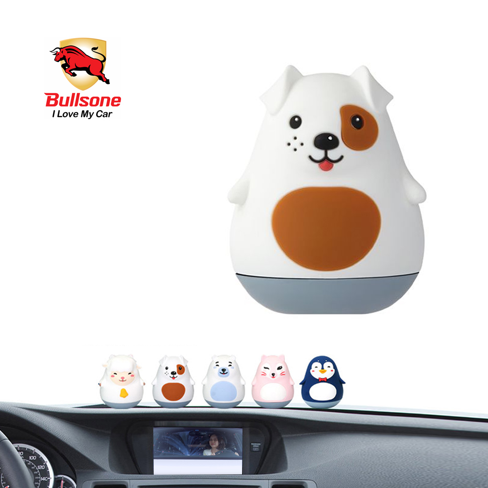 Car Air Freshener, [White Jasmine] Bullsone Pola Family Dashboard Mayo - 100% Natural Essential Oil Scents!