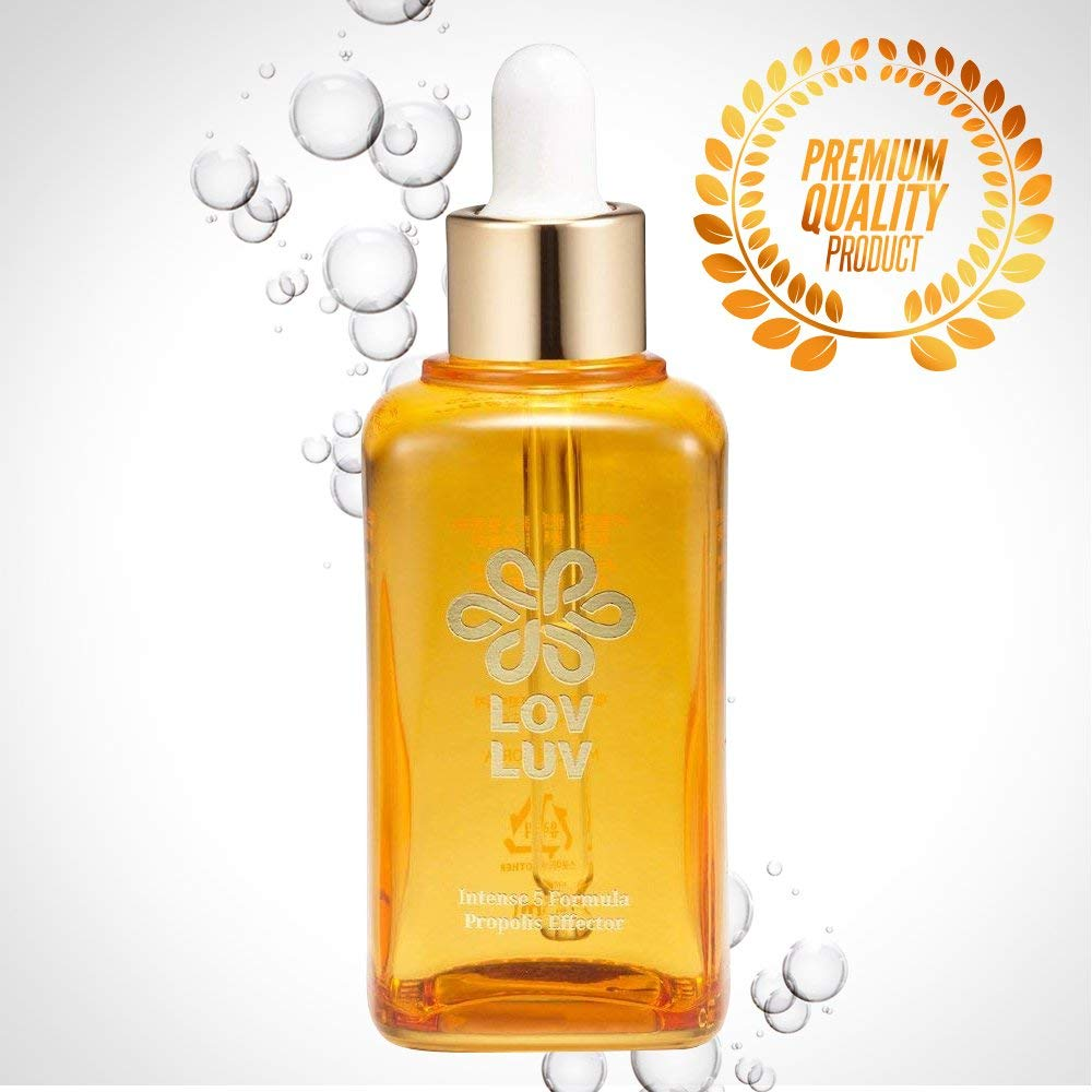 LOVLUV Intense Skin Formula Propolis Effector. K-Beauty Facial Serum Made with Bee Propolis. For Sensitive Skin and Helps Decrease Redness and Irritation. Has Anti-Aging Properties [50ml/1.69 oz]