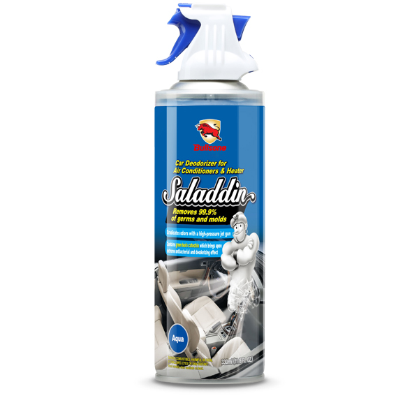 Bullsone Saladdin Car Deodorizer Spray For A/C System [Aqua] - Kills 99.9% Germs and Bacteria!
