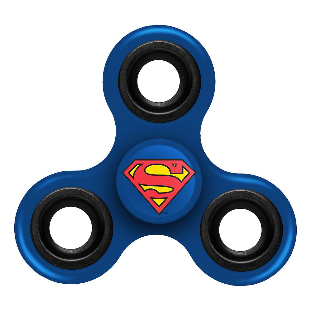 [Fidget Spinner] DC Comics [Superman] Diztracto Spinnerz Three Way Fidget Toy Spinner Toy - Perfect For Boredom, ADD, ADHD, Anxiety