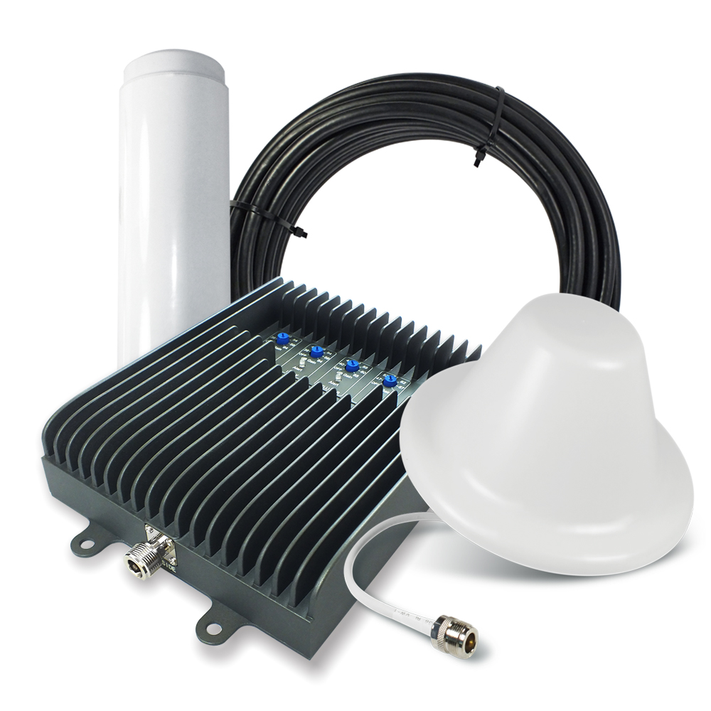 SureCall Fusion5S Omni Dome Five-band Home Cellular Signal Booster Amplifier Kit [Up to 6 000 Square Feet]- FCC Approved!
