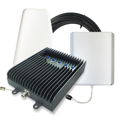 SureCall Fusion5S Yagi Panel Five-band Home Cellular Signal Booster Amplifier Kit [Up to 6,000 Square Feet] - FCC Approved!