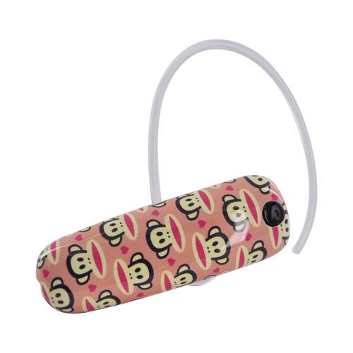 Original Earloomz Paul Frank Bluetooth Headset, GL-144 - Julius Hearts on Pink