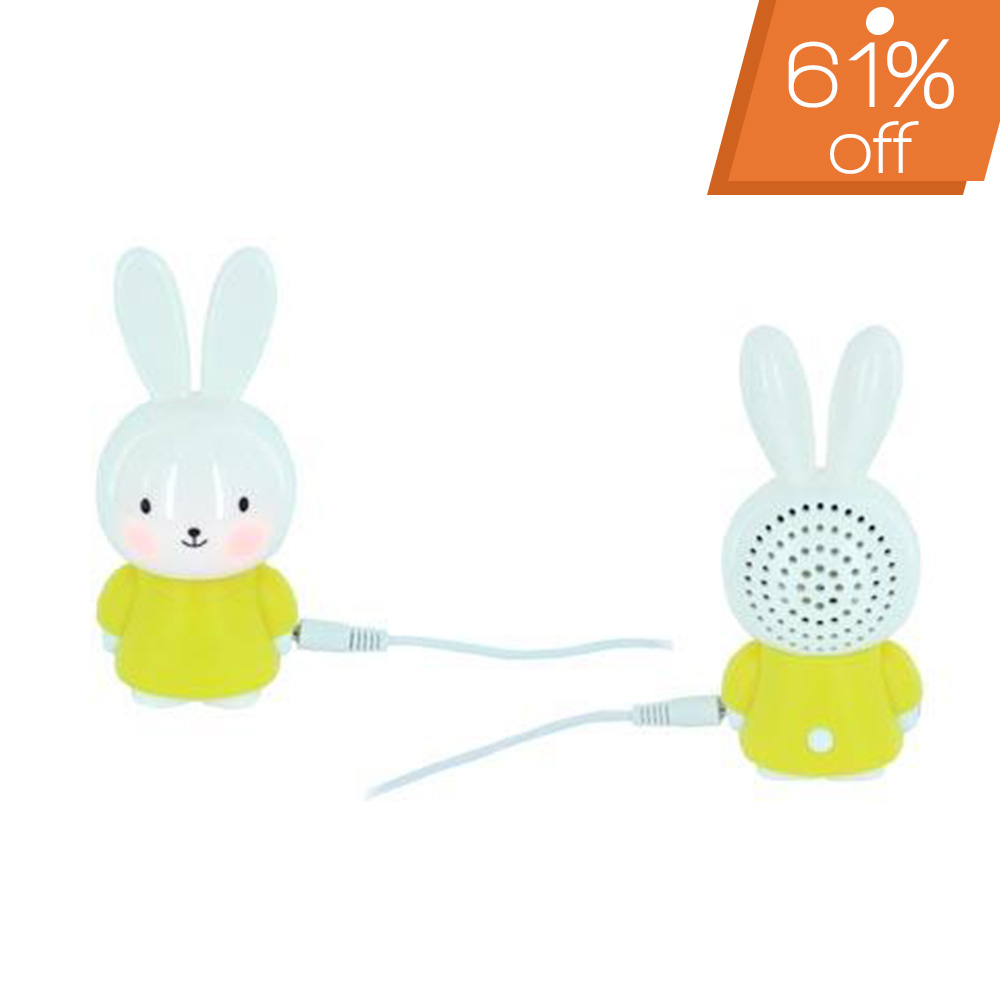 Portable Bunny Speaker (3.5mm) - Yellow