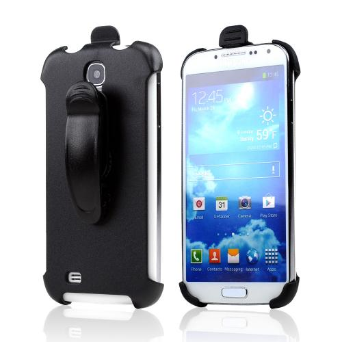 Black Holster w/ Swivel Belt Clip for Samsung Galaxy S4