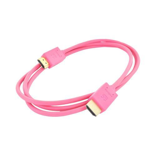 Hot Pink HDMI V1.4 High Speed Male to Male Cable - 5FT