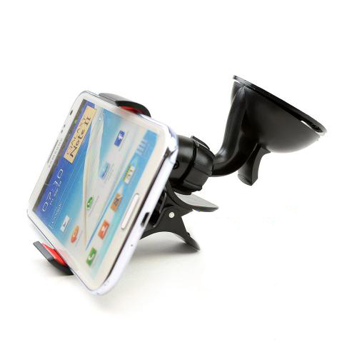 Black/ Red Phone/ MP3 Suction Car Mount
