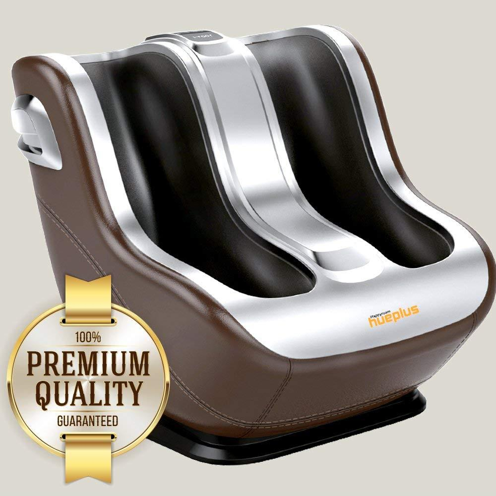 Hueplus Foot and Calf Shiatsu Massager Machine  Vibration Intensity Settings and Modes for Deep Kneading Personal Massage at Home and Office