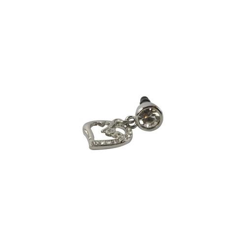 Silver Bling Mom Heart 3.5mm Headphone Jack Stopple Charm