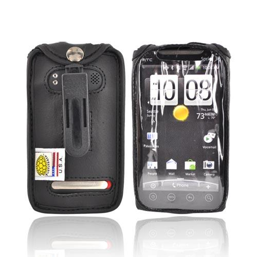 Original TurtleBack Premium HTC EVO 4G Leather Case w/ Swivel Clip - Black