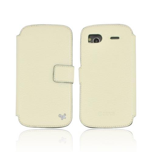 Original Zenus HTC Sensation 4G Masstige Shrunken Diary Series Leather Case, HTSAN-MLSDY-PC - Pearl Cream w/ Green Interior