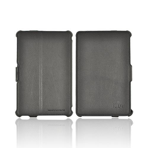 Original iLuv Ignite Amazon Kindle Fire Leather Portfolio Hard Case Stand, IAK501BLK - Black