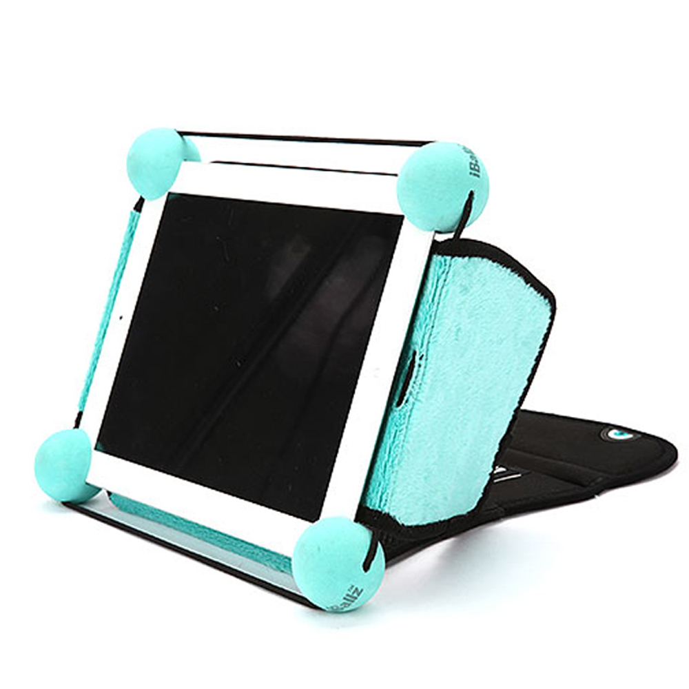 Original iBallz Apple iPad Eye Lid Folding Kickstand Sleeve w/ Velcro Closure - Black (iBallz Stand sold Seperately)