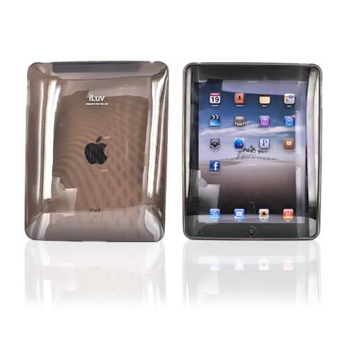 Original iLuv Apple iPad (1st Gen) 1st Flexi-Clear Case w/ Dot Wave, ICC802BLK - Transparent Smoke