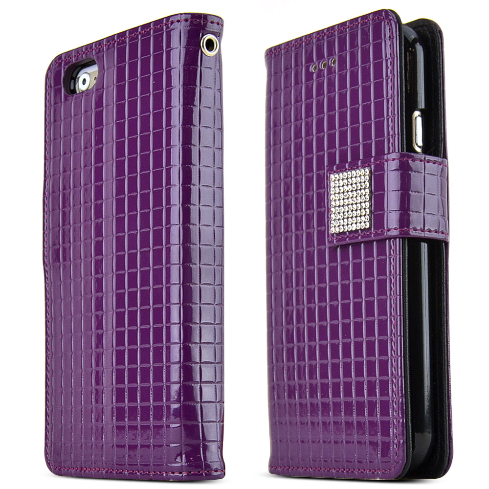 Made for Apple iPhone 6 PLUS/6S PLUS (5.5 inch) Case Cubic Series [Purple] Slim Protective Flip Cover Diary Case w/ ID Slots by Redshield