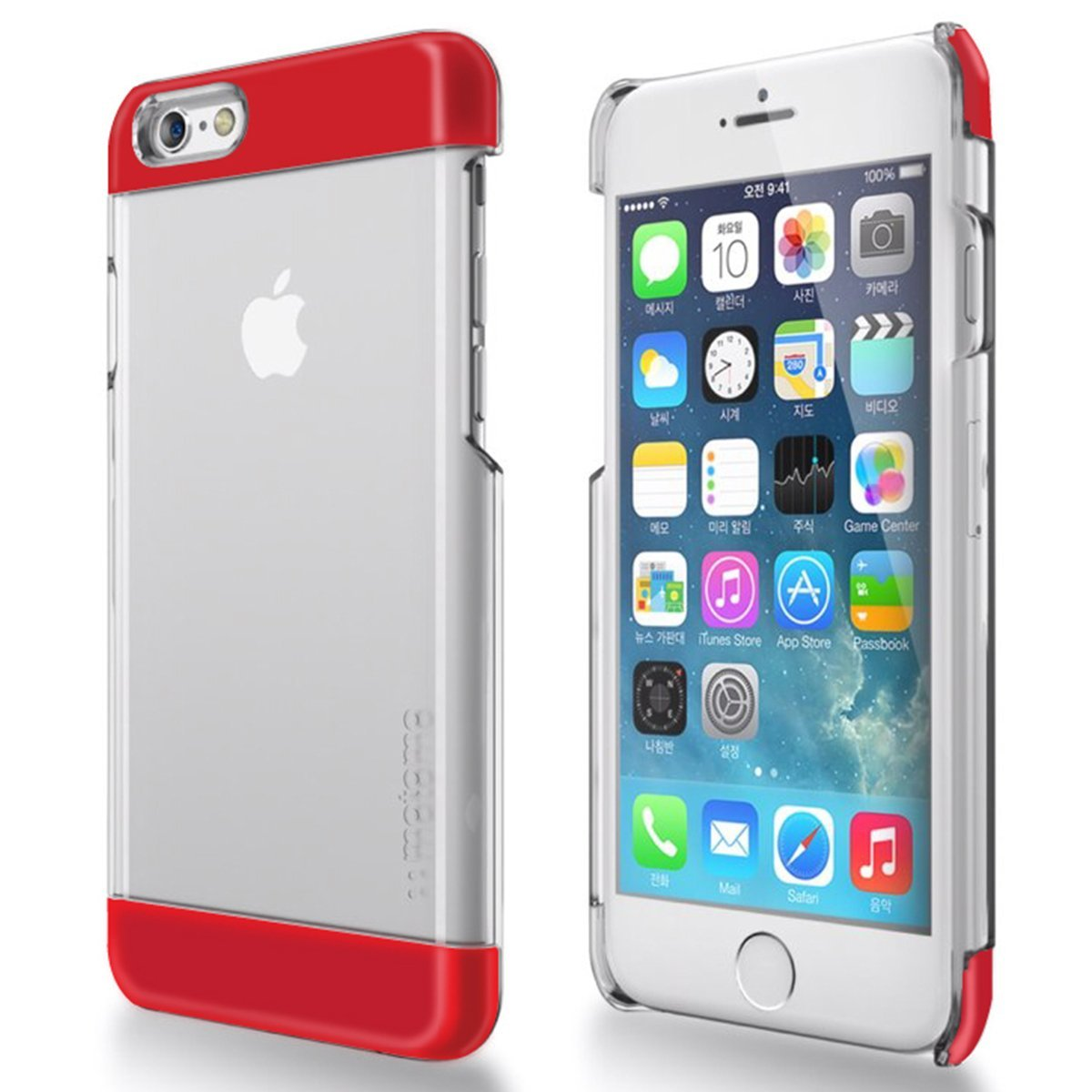 Made for Apple iPhone 6/ 6S Case,  [Red] INO Wing Series Slim Protective Crystal Glossy Snap-on Hard Polycarbonate Plastic Case Cover by Redshield