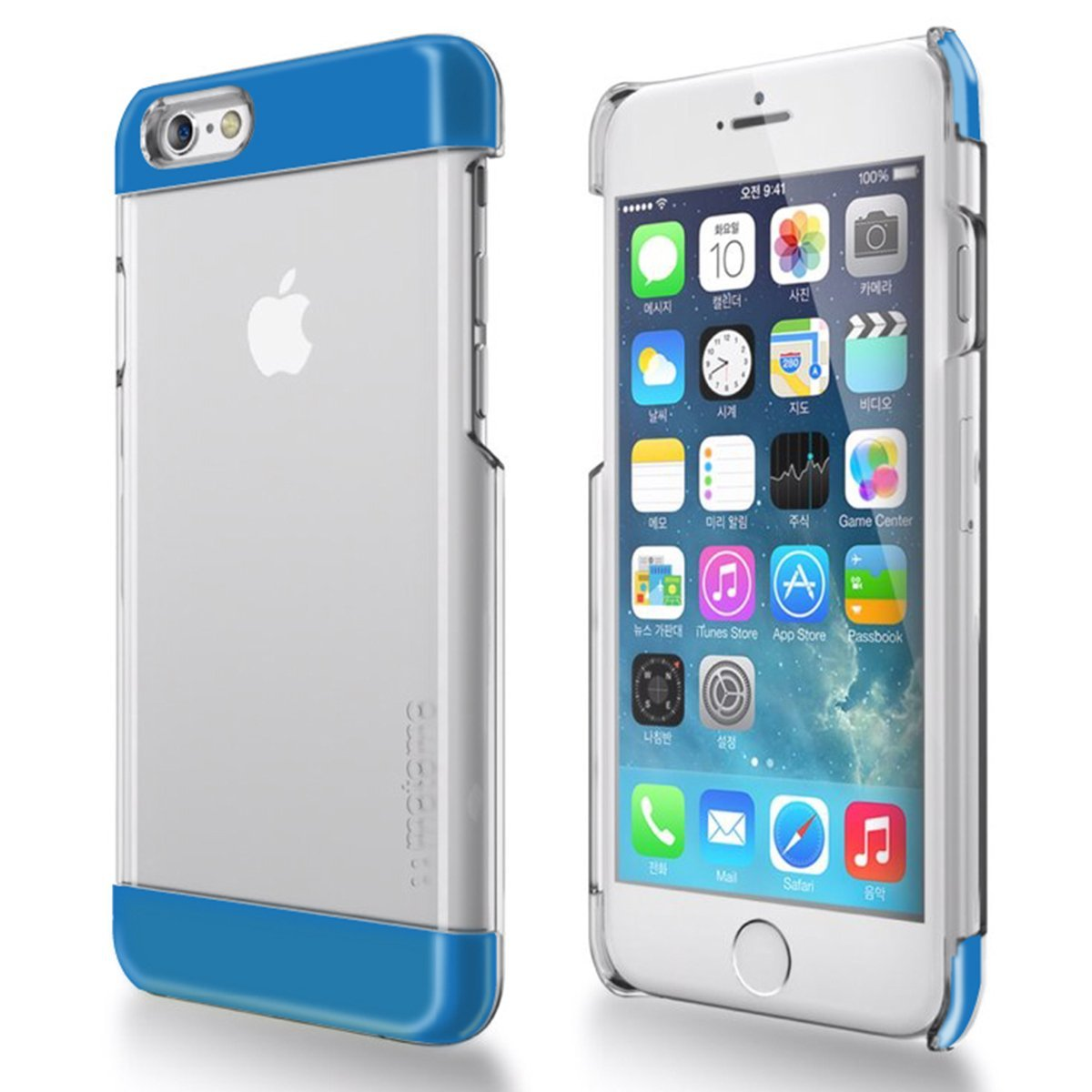 Apple iPhone 6 PLUS/6S PLUS (5.5 inch) Case, INO Wing Series [Blue] Slim Clear Form-Fitting Hard Plastic Protective Case Cover