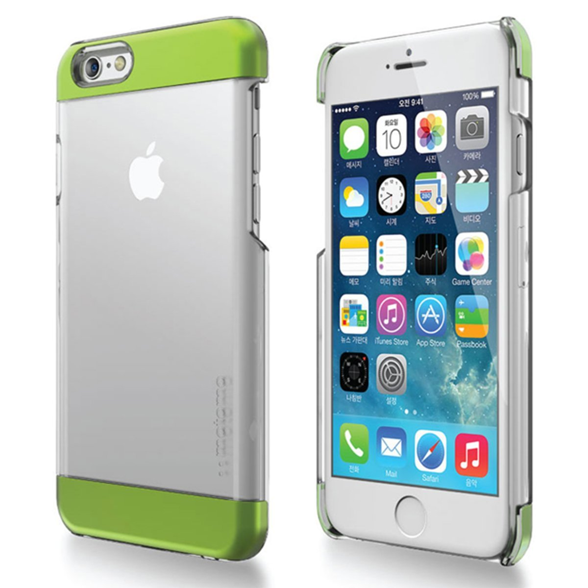 Made for Apple iPhone 6 PLUS/6S PLUS (5.5 inch) Case, INO Wing Series [Green] Slim Clear Form-Fitting Hard Plastic Protective Case Cover by Redshield