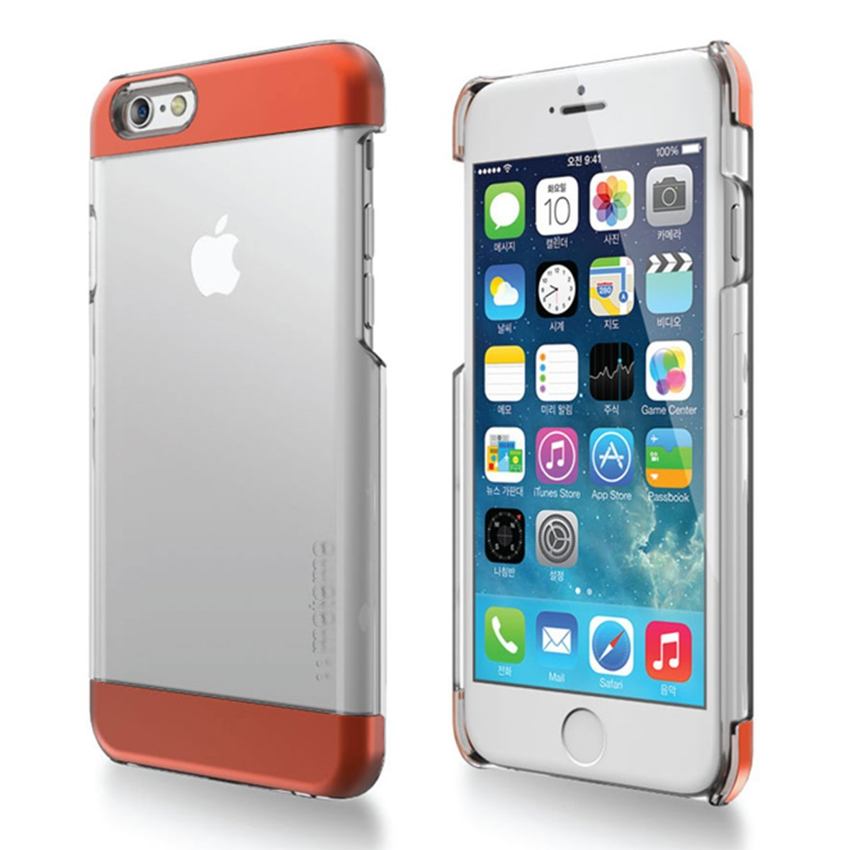 Made for Apple iPhone 6 PLUS/6S PLUS (5.5 inch) Case, INO Wing Series [Orange] Slim Clear Form-Fitting Hard Plastic Protective Case Cover by Redshield