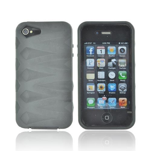 AT&T/ Verizon Apple iPhone 4, iPhone 4S Fusion Candy Case - Black